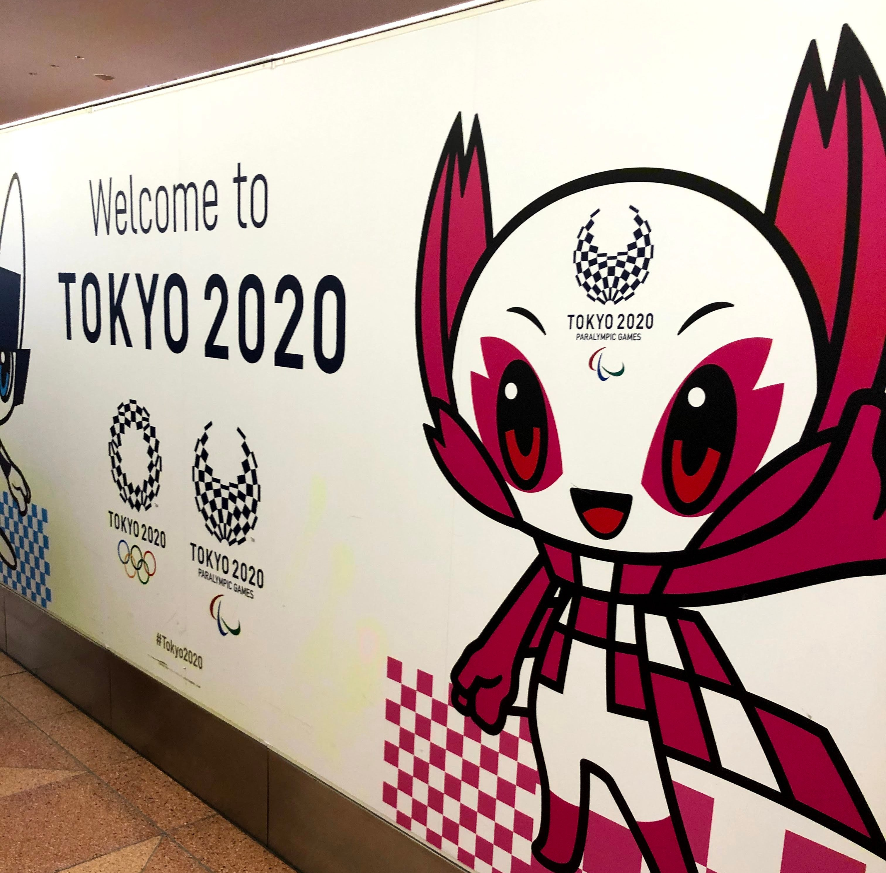 "A ""Welcome to Tokyo 2020"" poster"
